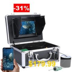 F011M-W #7 #inch #Underwater #Intelligent #6W #White #LED #Light #Visual #Fishing #Device #Wireless #WiFi #APP #Control #with #2.0MP #HD #1080P #Camera #- #GRAY