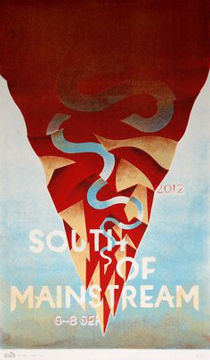 SOUTH OF MAINSTREAM Gigposter #music #color #analog #poster