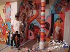 Jeremyville x DECON & Mass Appeal Mural « SIXAND5 – Inspiration webzine #jeremyville