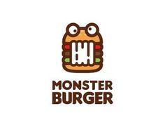 e427a378481839153f1c011682b55589.png #logo #branding #monster #burger #logopond