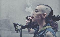 tank girl rifle cigar 2880x1800.jpg (2880×1800) #punk #tank girl