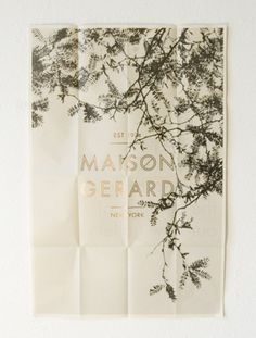 maisongerard-foundbyjames.jpg (450×593) #typeface #poster #layout #new york #tree #gold #maison gerard