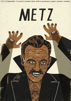 metz | poster on Behance #print #design #illustration #poster #band
