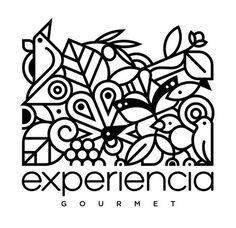 Experiencia Gourmet Illustrated Logo #lines #black #brand #logo #gourmet