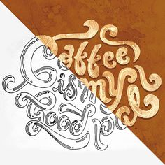 Lettering on Behance #funky #lettering #handlettering #coffee #drawing #typography