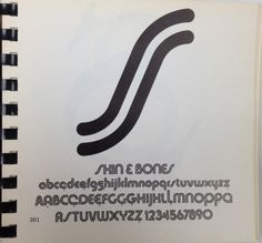 Daily Type Specimen   Skin and bones, a multilinear take on Bauhaus. #typography