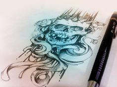 ARTE0.5 #skull crown roses