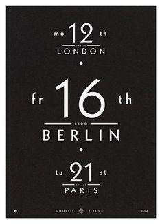 Type, Gothic, Calendar, Date