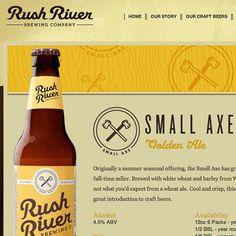 Rush River Brewing Website #site #beer #web