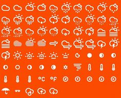 Climate Icons #icons #clima