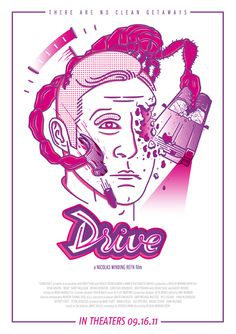Drive fan art movie poster. #movie #lettering #ryan #drive #poster #art #fan #gosling