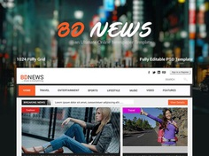 Free Newspaper Website Template