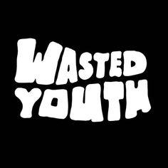 Wasted Youth • • • • #tuffluck #graffiti #graffitiart #streetart #krinkpaint #supreme #traplife #minimal #typegang #trapstyle #ghett