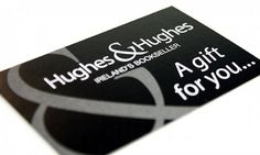 Hughes and Hughes loyalty card | Seek design - Interior, Exhibition & Graphic Designers, Dublin, Ireland #gift #card #design