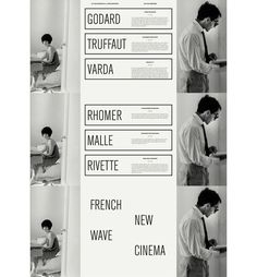 French New Wave Scott Langer — Graphic Design #poster #white #film #new #black #wave #french