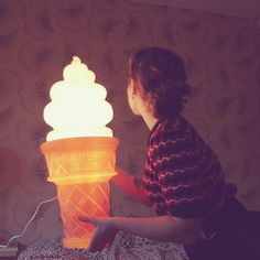 Ice Cream Cone Lamps #home #ice cream #lamps