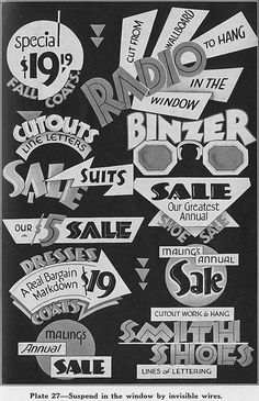 idea-5a.jpg (JPEG Image, 492 × 762 pixels) #white #sign #retro #black #vintage #type #sale #typography