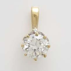 Pendant with 1 diamond approx 1,16 ct