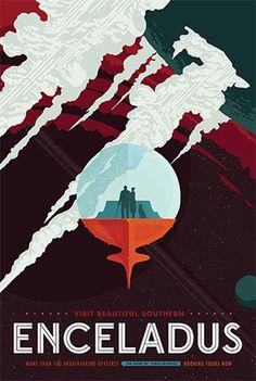 Enceladus - NASA poster