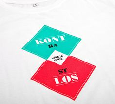 NATRI - contrastless - T-Shirt (white): KONTRASTLOS - WHATEVER #modern #print #design #shirt #minimal #fashion #type #typography