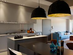 Minimally Designed Apartment With Punches of Color Photo #interior #design #decor #kitchen #deco #decoration