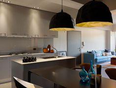 Minimally Designed Apartment With Punches of Color Photo #interior #design #decor #kitchen #deco #decoration