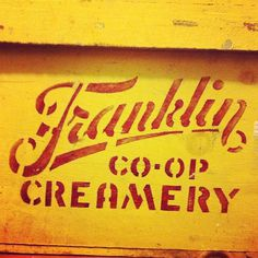 Franklin Co-Op #script #block #letter #industrial #typography