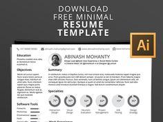 Abinash Resume - Free Minimalist Illustrator Resume Template