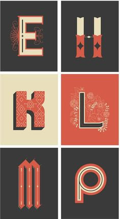 betype: Decorative Lettering Postcards by Rachel Brown #type #illustrations #typography
