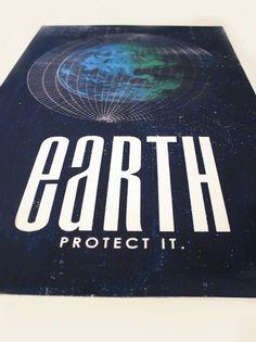 Earth Screenprint Poster #poster #screen print #earth