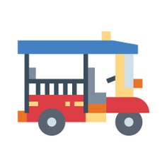 See more icon inspiration related to thailand, tourism, cultures, wheeler, rickshaw, Tuk tuk, transportation, travel and transport on Flaticon.