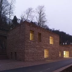 Dezeen » Blog Archive » Heidelberg Castle Visitor Centre by Max Dudler #architecture