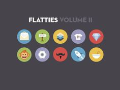 Flatties Vol 2 #flat #icons
