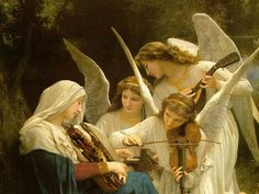 Phones and Babies Replaced with Sandwiches #sandwich #violin #illustration #angels