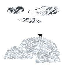 Mule I🌛 Solitude by Le Riquiqui #drawing #doodle #minimal #solitude #mule #mongolia #illustration #pencil