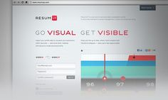 Resumup.com on the Behance Network #interface