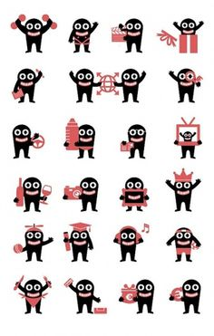 PFFF-Graphic Design-Illustration #monster #icons