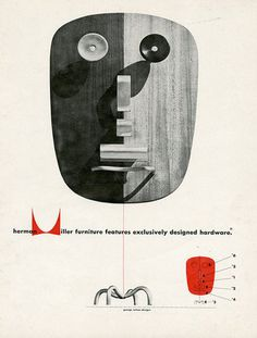 8: Magazine Advertisement: 1948. | How Design Legend Irving Harper Created The Herman Miller Logo | Co.Design: business + innovation + desig #vintage