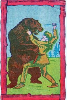 All sizes | Trading card Davy Crockett | Flickr - Photo Sharing! #logo #illustration #retro #vintage