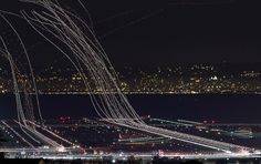 SFO crunch | Flickr - Photo Sharing! #sfo #airplane #exposure #photography #long #airport