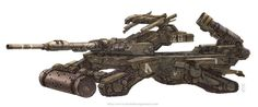 Vehicles: Charioteer Tank #robot #fantasy #sci-fi #wwwkeiththompsonartcom