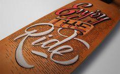 Creative Lettering Design by Panco Sassano #letteringart #letteringdesign #fontart