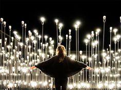 LEDscape: A Lightbulb Landscape in Portugal #bulbs #light #installation
