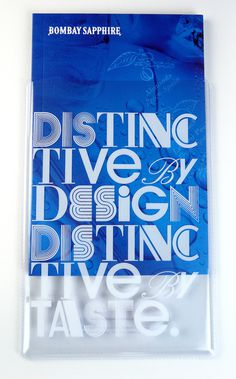 Bombay Sapphire Cocktails Booklet on the Behance Network #case #slip #typography