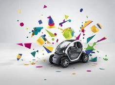 Renault Twizy Campaign | Fubiz™ #abstract #car #shapes #advertising