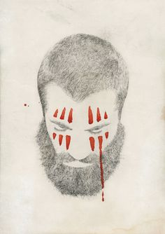 Lamono Magazine - Tom Dilly Littleson #gore #handdrawn #beard #drawing #illustrations #texture #cover #hair #illustration #portrait #pencil #paper #detail #magazine