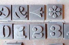 Practically Modern | Design That Works - House Numbers from Heath Ceramics #fonts #tiles #house #ceramics #heath #neutra #numbers #eames