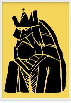 » King #illustration #yellow #black