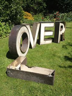 L-Over #type #retro #letters #signage #3d #shop signage