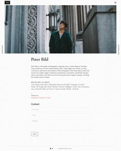 Bild — WordPress Photography theme - Mindsparkle Mag - Peter Bild is a photographer using a WordPress Photography theme by Mauer Themes fo